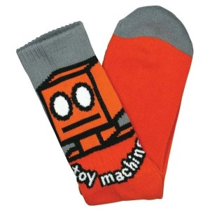Toy Machine Orange Robot Socks