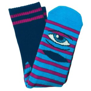 Toy Machine Sect Eye Stripe Socks Navy Purple