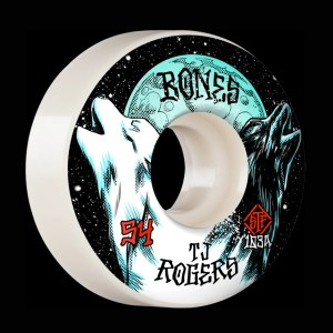 54mm Bones Rogers Howl Wheels v3 Slims