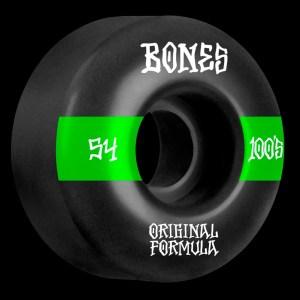 54mm Bones 100's OG Formula Skateboard Wheels V4 Wide
