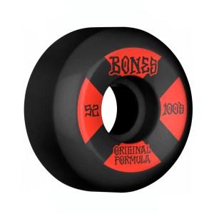 52mm Bones Wheels OG Formula Wheels 100 #4 Blk