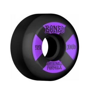 55mm Bones 100's #4 OG Formula Black Wheels