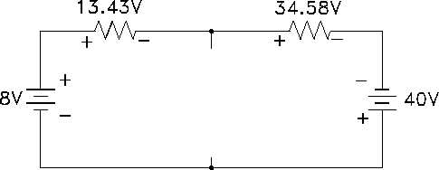 Figure 41 Applying Voltage Laws to Outer Loop
