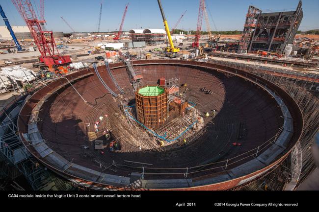 New Vogtle Reactor Photos Show Construction Progress