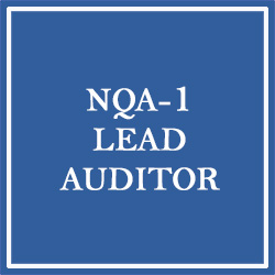 NQA-1 Lead Auditor Training (October 21-23, 2020)