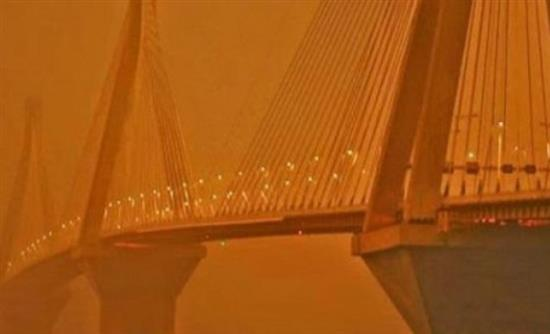 Πάτρα: Αφρικανική σκόνη κάλυψε και τη Δυτική Ελλάδα - «Χάθηκε» η γέφυρα Ρίου-Αντιρρίου