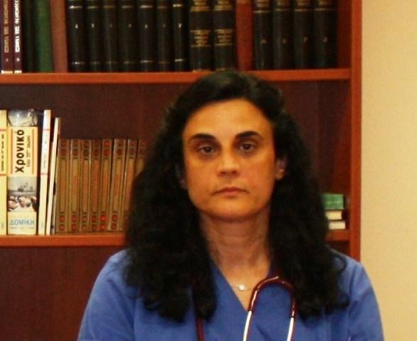 H παθολόγος κα Θεοδώρα Νικολοπούλου
