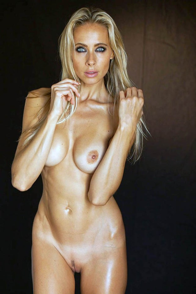 Model and yoga teacher Jesse Golden naked
