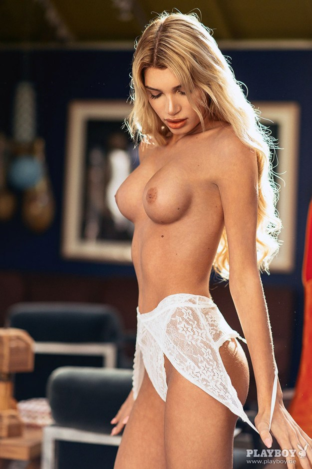 Tranny Model Giuliana Farfalla Nude full frontal for Playboy