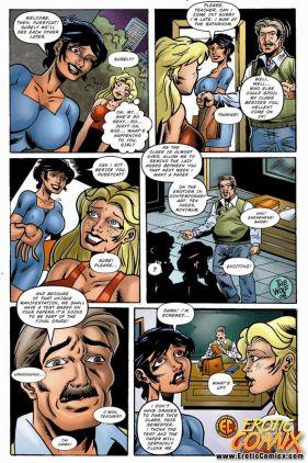 Big-boobed platinum-blonde comics superslut deepthroating and shagging a shemale's ample jizz-shotgun