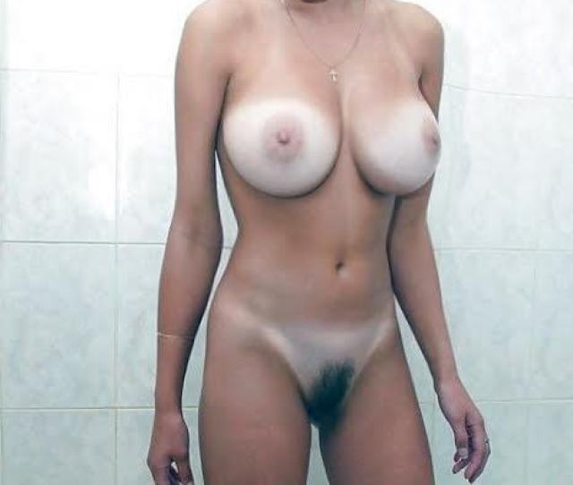 Busty Babe With Big Juicy Boobs And Hairy Pussy Tanned