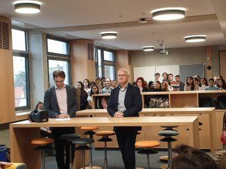 Bürgermeister Dr. Klemens Gsell und Planungs- und Baureferent Daniel F. Ulrich