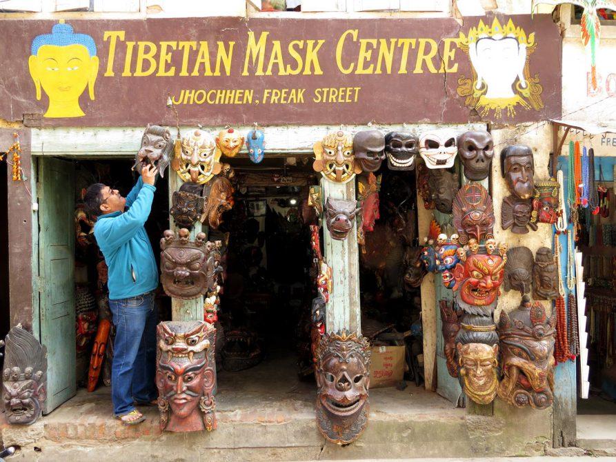 Maskengeschäft, Freak Street, Kathmandu