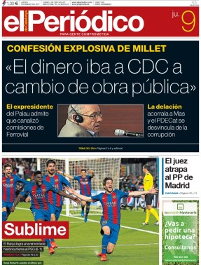 portada El Periódico 9 de marzo
