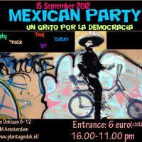 15 de Septiembre: Fiesta Mexicana en Amsterdam: un grito por la democracia.