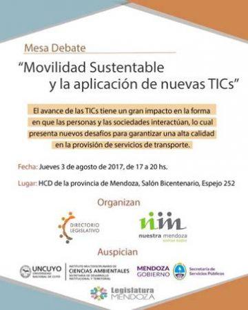 Mesa de Debate sobre Movilidad Sustentable y aplicación de nuevas TIC