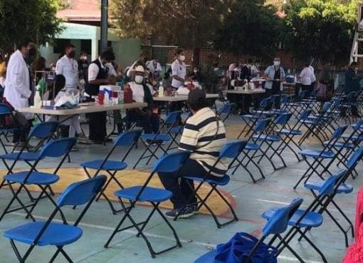 Concluye segunda jornada de vacunación contra el COVID.19 en Tarimoro