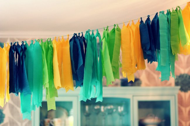 Guirnaldas de papel crep paso a paso  Nuestros Hijos