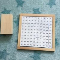 Contando con el Tablero del 100 Montessori