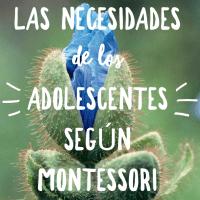 Las necesidades de los adolescentes según Montessori