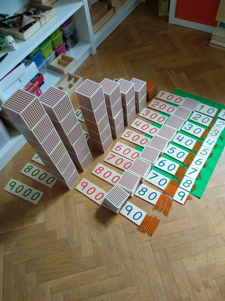despliegue sistema decimal montessori