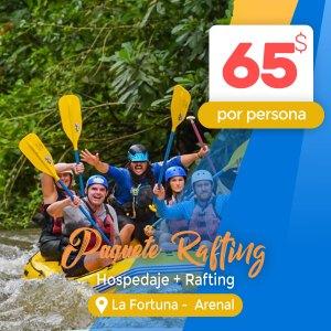 Paquete turístico Hotel Las Colinas en Arenal + Rafting