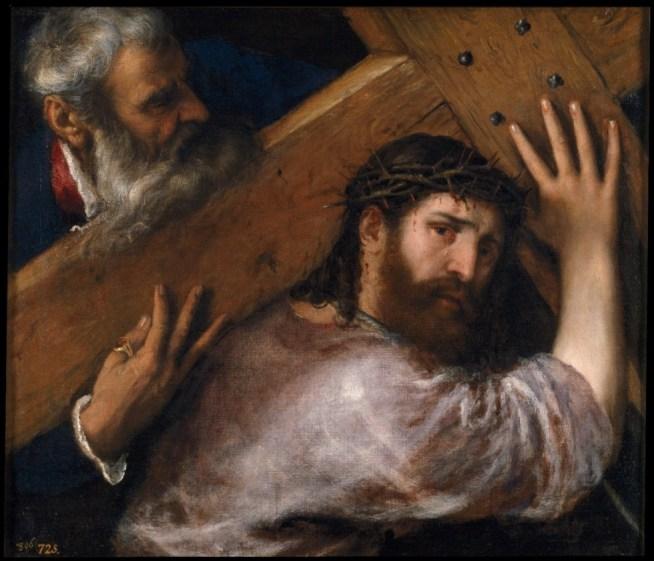 Cristo con la cruz a cuestas; de Tiziano, pintura que se expondrá hasta el 31 de marzo en el Museo de Bellas Artes de Houston. Foto: MUSEO DEL PRADO/BBVA