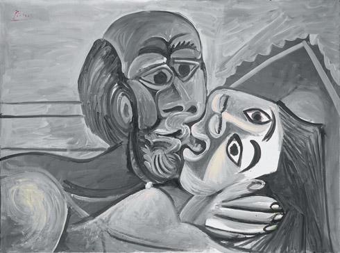 La exposición titulada Picasso en Blanco y Negro: recorre la visión única del artista Pablo Picasso temáticamente a lo largo de toda su vida, incluyendo principios de azul monocromático y pinturas de color de rosa, gris y tonos plateados sin el brillo del metal.