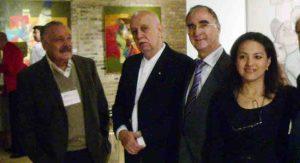 1 Maestro Jose Luis Cuevas, Carlos Colombino, Vicente Alcaraz Pte. de CosmoArte Siglo XXV, Mónica Sarmiento Castillo