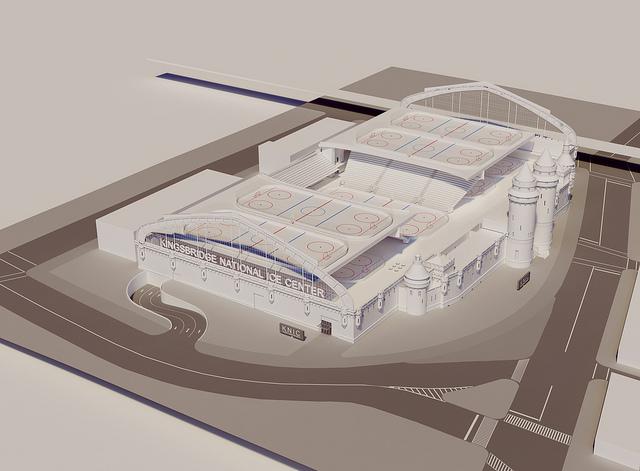 MAqueta del estadio de deportes sobre hielo