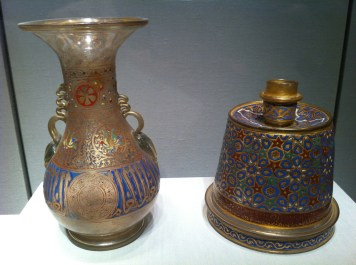 Vasijas del arte islámico, c. 1300-1329. Foto Julio César Paredes