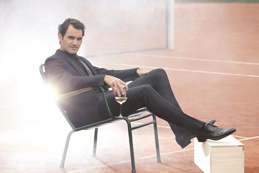 El embajador de Moët & Chandon a nivel mundial, Roger Federer