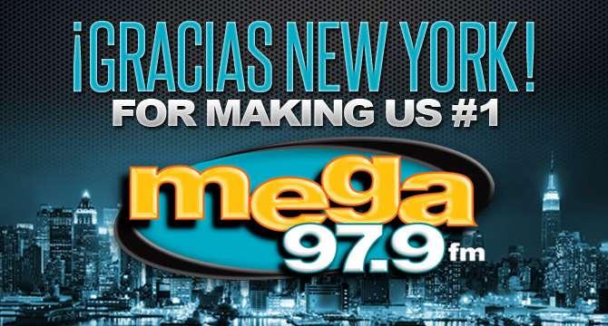 Mega 97.9 FM la emisora #1 en NY