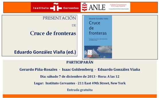 Cruce de Fronteras en Instituto Cervantes