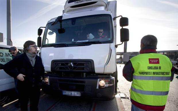 Resultat d'imatges de inspeccion de transportes madrid