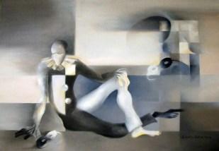 Julieta Della Torre. Arlequién, óleo sobre tela. 70 x 100 cm. 2009. Selección del público: 920 votos