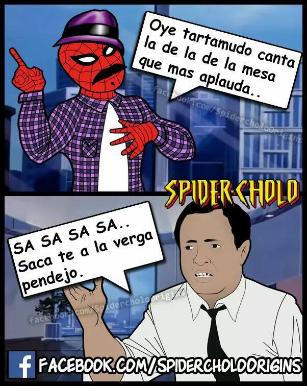 spidercholo memes  Lo ms gracioso y nuevo del internet