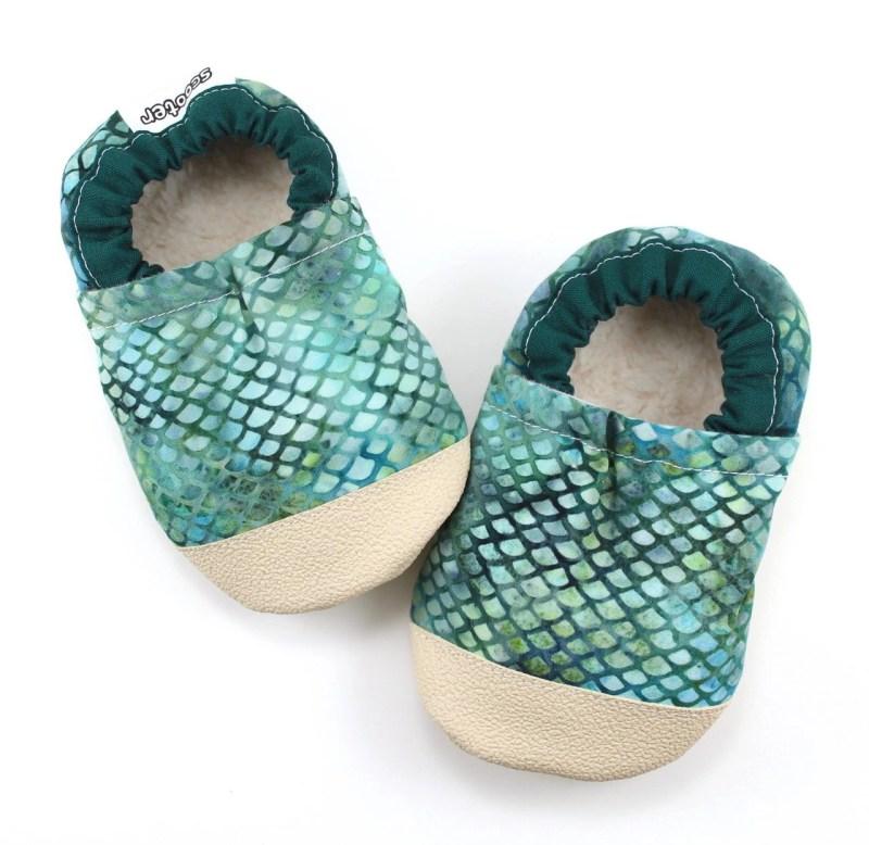 Mermaid Baby Booties