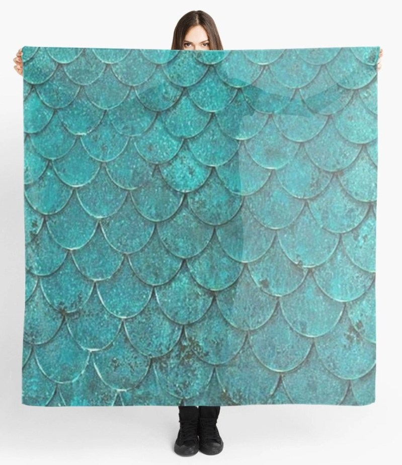 Mermaid Scales Scarf
