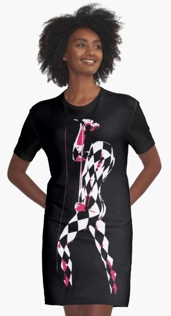 Freddie Mercury harlequin print dress