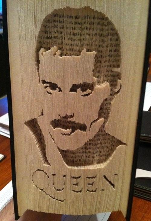 Freddie Mercury book cut & fold pattern