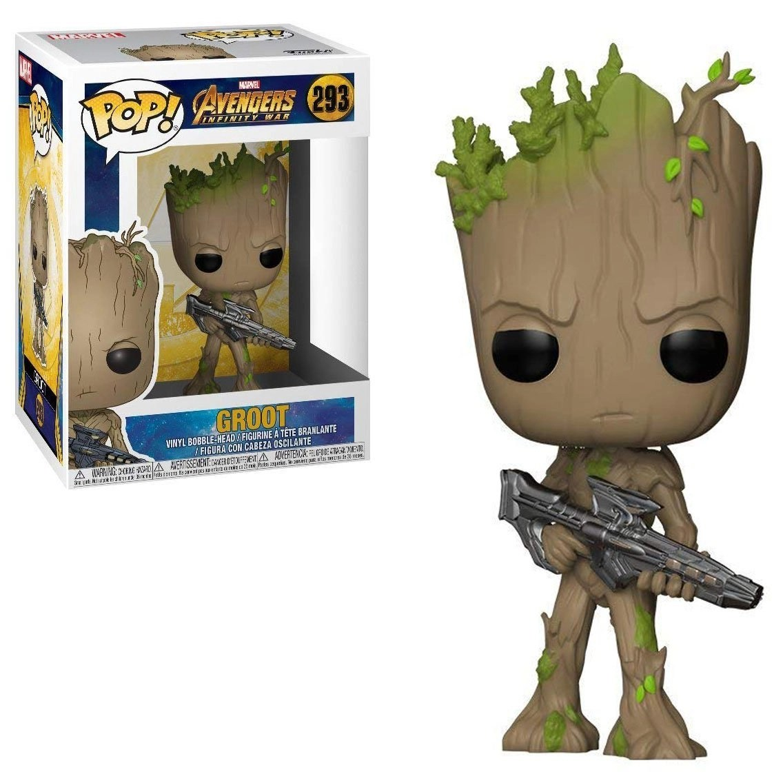 Other Action Figures Marvel Guardians Of The Galaxy 202 Groot Bobble-head Vinyl Figure Durable In Use Active Funko Pop Action Figures