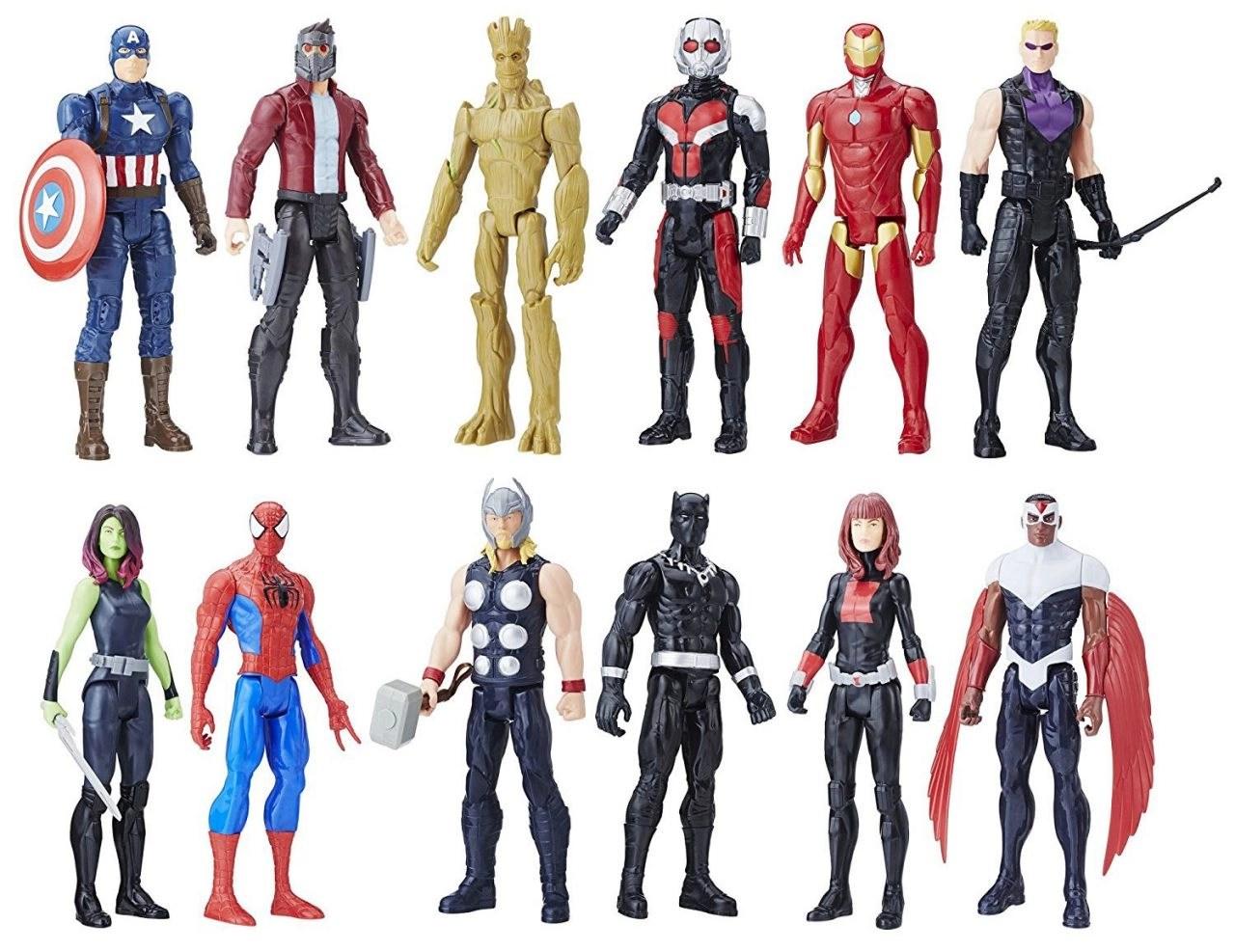 "Mixed Lot of 3 Superhero 12/"" Action Figures Marvel X-Men Avengers"