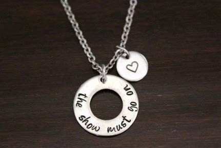 Show Must Go On necklace