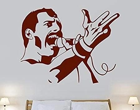 Freddie Mercury wall decal