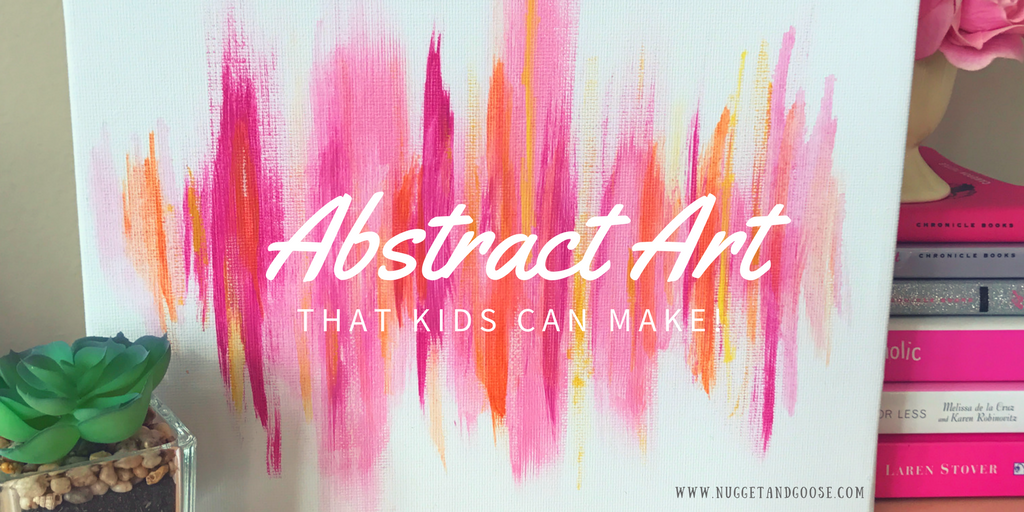 Abstract Art For Kids An Easy Mothers Day Gift Kids Can Make