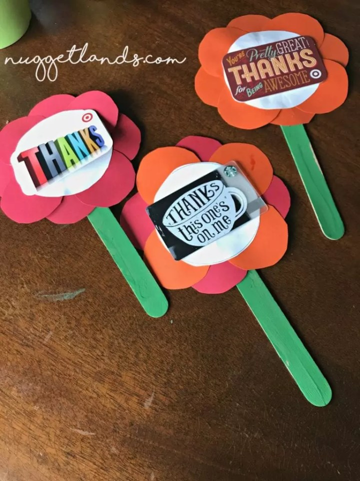 Teacher Appreciation Craft 3 flowers