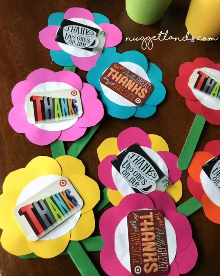 Teacher Appreciation Craft flower bunch