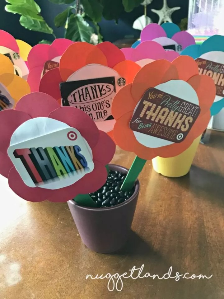 Teacher Appreciation Craft flower pots group