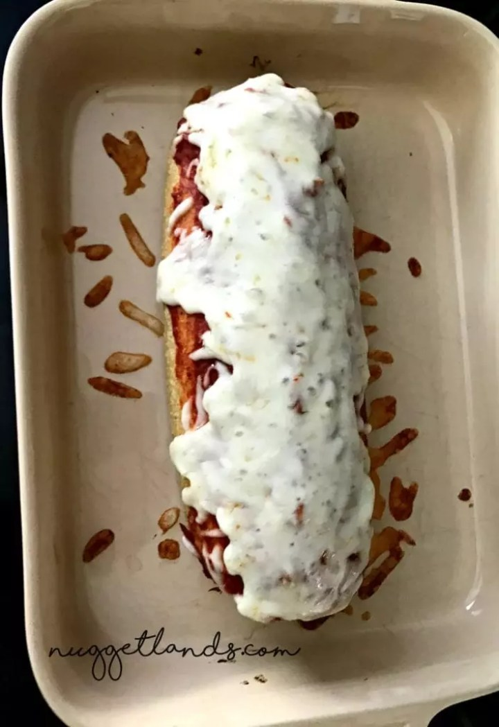 Cheesy Stuffed Meatloaf whole above